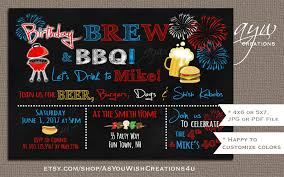 fourth of july birthday invitations 4th of july beer and bbq birthday party invitations printable