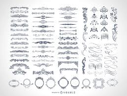 85 free vintage vector ornaments vector