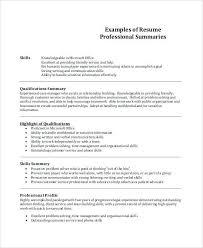 resume summary example lukex co