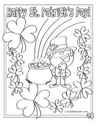 plain design st patricks day coloring pages 27 printable saint