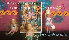 barbie sisters puppy adventure chelsea dolls
