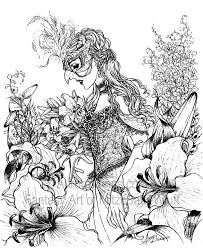 roses artist mitzi sato wiuff coloring masquerade mask gracefull