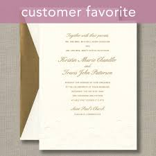 embossed wedding invitations large flower warm white wedding invitations