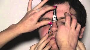 zip mask halloween how to do the zip face makeup effect youtube