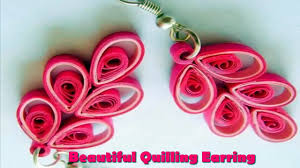 art u0026 craft how to make beautiful quilling earrings using paper