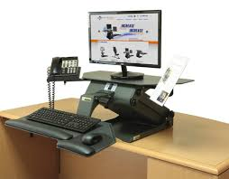 Ergonomic Home Office Desk by Electric Executive Standing Desk In The Upright Position Sit