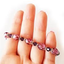 pink glass bead bracelet images Pink and purple swarovski glass beads bracelet shop jpg