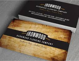 ironwood hardwood flooring business cards on behance graphic