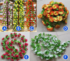 artificial flowers for home decoration discount string simulation artificial flowers vine arch wall