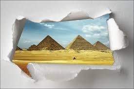 sticker trompe oeil sticker trompe l u0027oeil pyramide art déco stickers