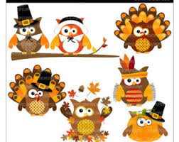owl thanksgiving clipart 56