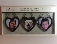 hallmark family tree shaped accessory kit 5 frame ornament picture