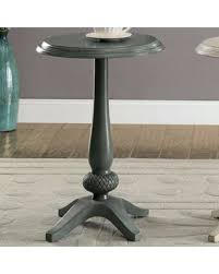 teal accent table spectacular deal on benzara antique teal wood round accent table