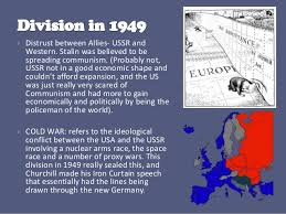 Significance Of Iron Curtain Speech The Division Of Germany 1945 1949