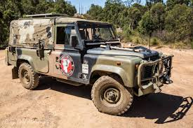 lifted land rover defender army land rover defender 110 on a mission to spread awareness for