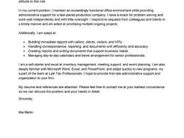 4 cover letter template for administrative position best