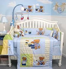 Soho Crib Bedding Set Soho Rock N Roll Teddy Crib Nursery Bedding Set