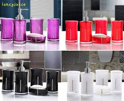 Pink And Black Bathroom Accessories by Online Get Cheap Black Bath Sets Aliexpress Com Alibaba Group