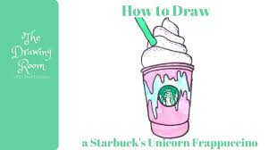 how to draw a starbuck u0027s unicorn frappuccino easy youtube