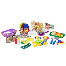 deluxe children kitchen cooking pretend play set with accessories