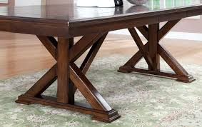 descanso dining table in brown cherry w options