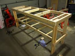 Woodworking Bench Plans Simple by Garage Woodworking Vice Garage Workbench Ideas Wood Workbench