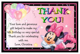 minnie mouse thank you cards minnie mouse birthday thank you cards ebay