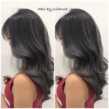 silver brown hair silver grey balayage ombre hair yelp