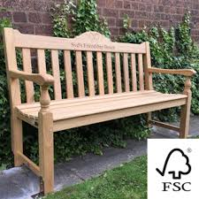 5ft Garden Bench Memorial Menches Alexander Rose