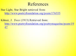 Star Light Star Bright Lyrics Concrete Poetry The Shaping Of A Poem A Concrete Poem Is One