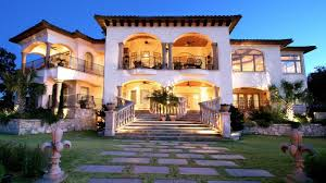 houses lake travis mediterranean rear elevation holt custom homes