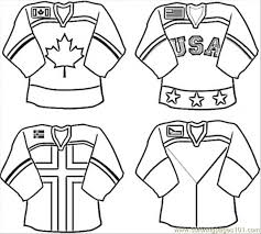 unifrom hockey team coloring free canada coloring pages