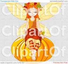pumpkin no background clipart autumn fairy sitting on a round pumpkin royalty