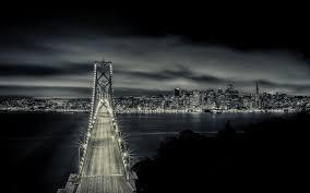 Bay Bridge Lights San Francisco San Francisco Bay Bridge California California