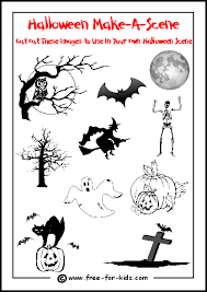printable halloween activities children