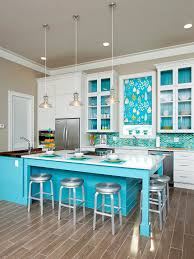Coastal Inspired Kitchens - superb coastal inspired kitchen decor brown pendant blue painted