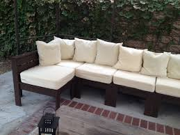 How To Build Patio Furniture Sectional - diy outdoor sectional home design by fuller