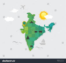 World Map Of India by Flat Style Vector Map India Attributes Stock Vector 239654305