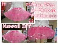 kawaii diy how to make petticoats for beginners with only 3