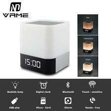 clock radio with night light vrme night light bluetooth speaker portable wireless speaker with