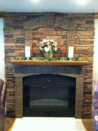 synthetic stone panel fireplace design creative faux panels