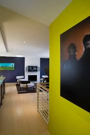 chartreuse walls with wall decor bedroom contemporary and drum