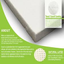 3 inches supportive latex mattress topper