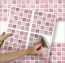 pink mosaic sheet of 4 transfer tile stickers for 6