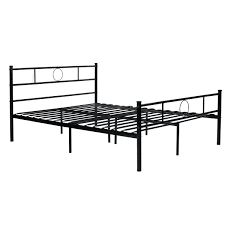 aingoo double metal platform bed frame with strong metal slats