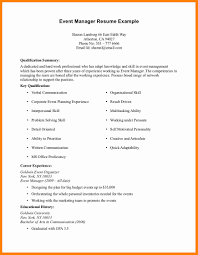Resume Format Event Management Jobs by Event Manager Resume Template Virtren Com
