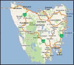 map of tasmania australia cer hire tasmania your self drive