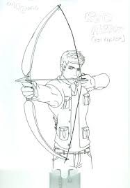 red arrow coloring pages
