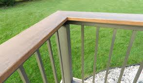 over the post railing color guard railing