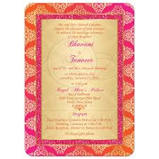 housewarming invitation wordings india wedding invitation orange fuchsia gold damask faux pink